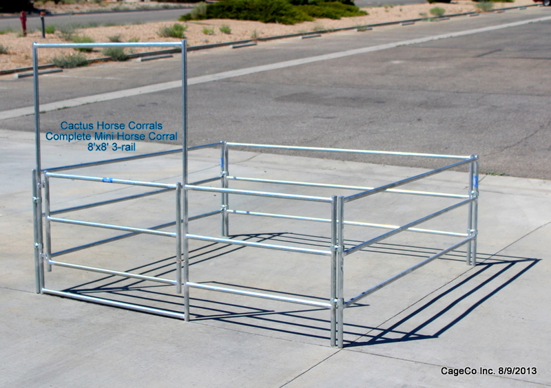 Mini Horse Corrals and Shelters