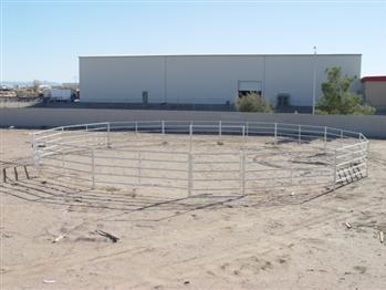 Horse Round Pen, horse, round pen, livestock, training, equine, galvanized, lunging pen